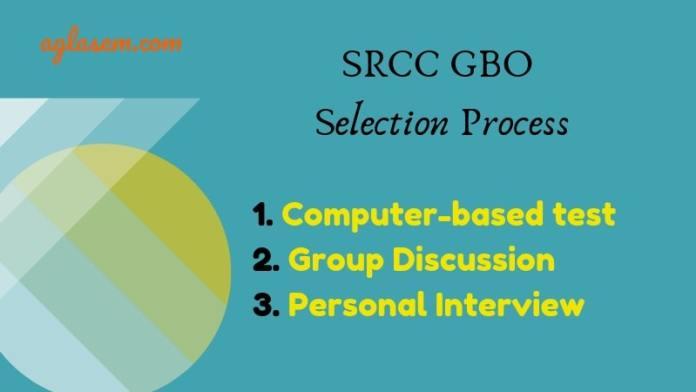 SRCC GBO 2019 Selection Process