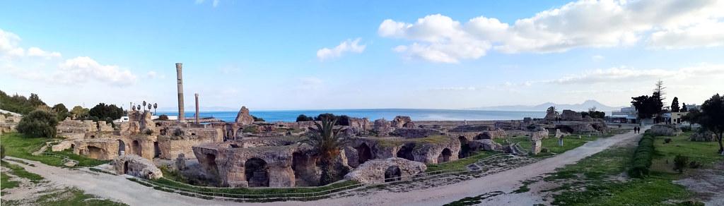 vista panoramica de Termas de Antonino Cartago Tunez 01