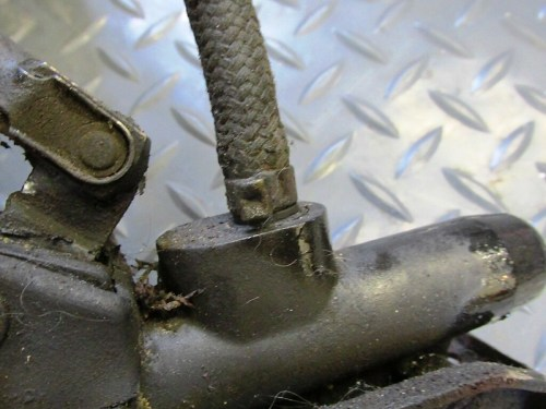 Rear Brake Fluid Line Use-Once Clamp Detail