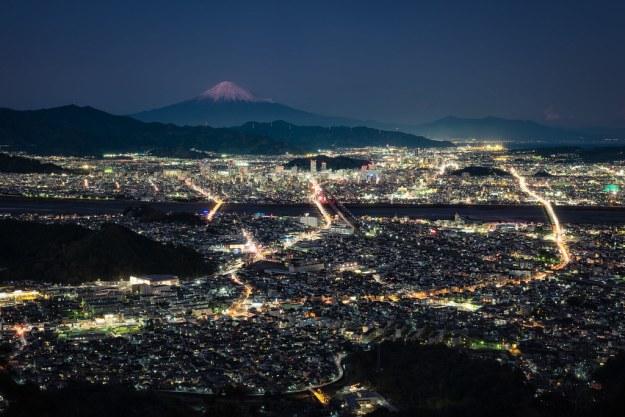 Mt. Fuji over Shizuoka City