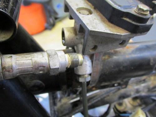 Master Cylinder Line To Splitter Manifold Detail