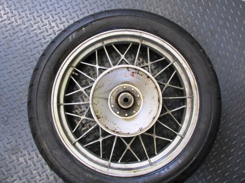 Rear Wheel Showing Splines
