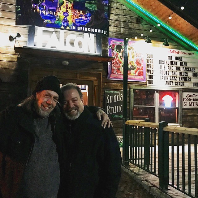 Peter Furlan & I Outside the Falcon