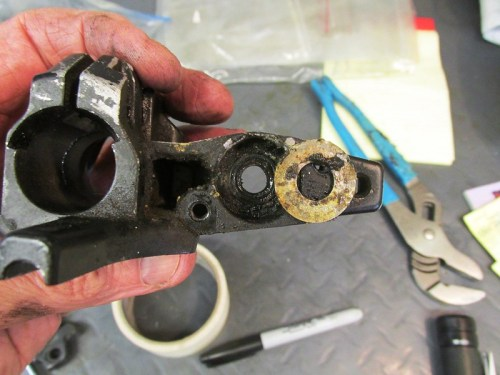 Right Handlebar Control Where Master Cylinder Mounts Detail