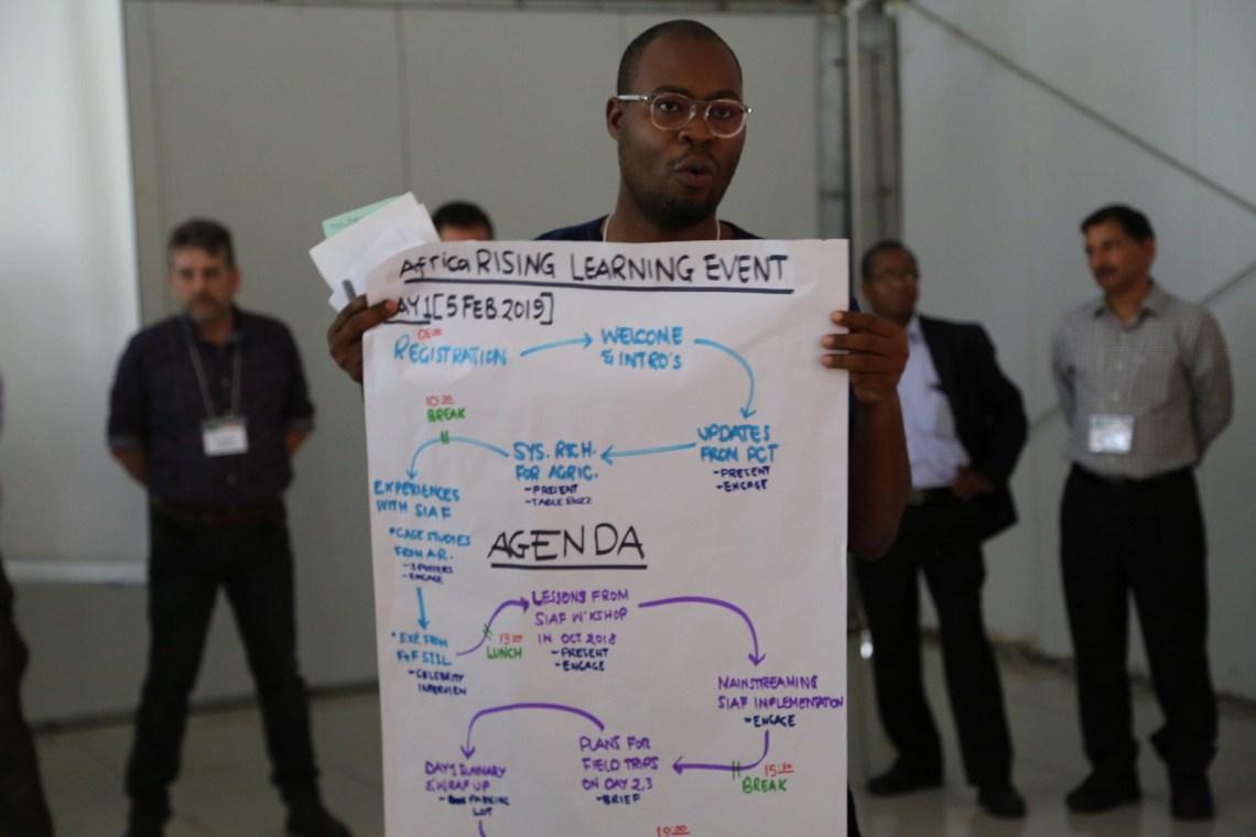 Jonathan Odhong, Africa RISING Communication and Knowledge Sharing Coordinator. Photo credit: Bevin Bhoke/IITA.