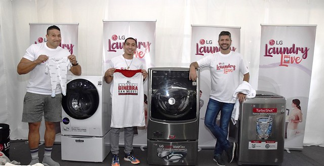 LG Male Ambassadors Do The Laundry  for the Household