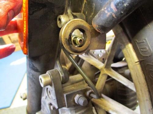Front Caliper Brake Line & Bracket Detail