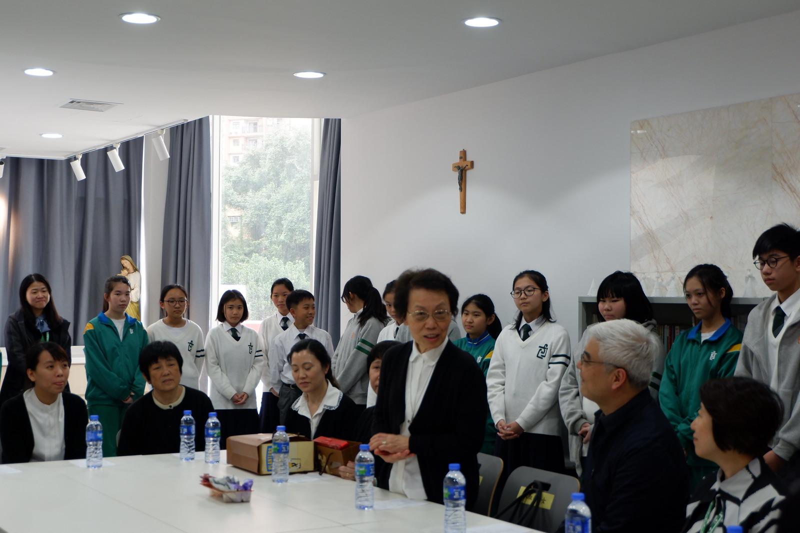 聖家師長來訪本校 - 聖若瑟教區中學