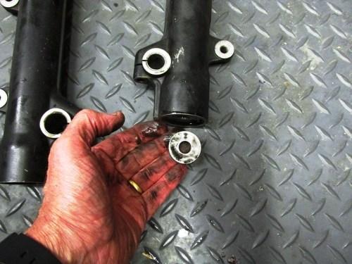 Fork Damper Rod Bottom Bumper Ring Fits Inside the Bottom of the Fork Slider