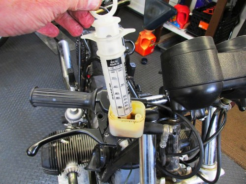 Remove Brake Fluid From Front Reservoir With Syringe
