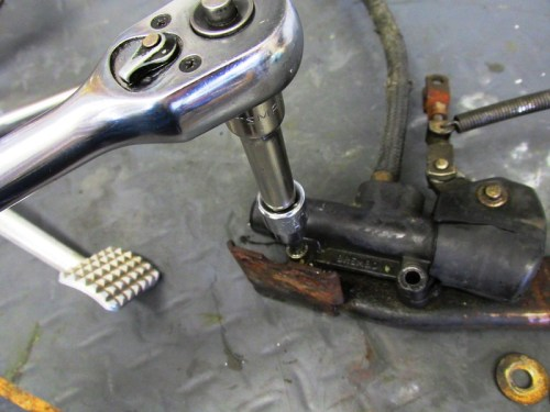 Remove Allan Bolts Securing Rear Master Cylinder to Bracket
