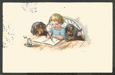 Dogs-Little-Boy-Writing-in-a-Book-with