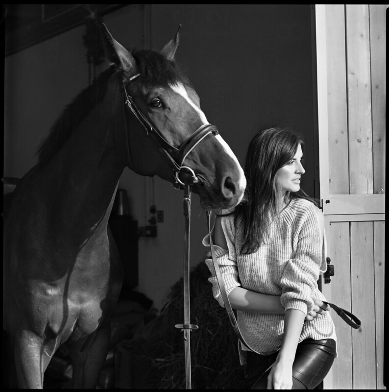 Model and Horse
