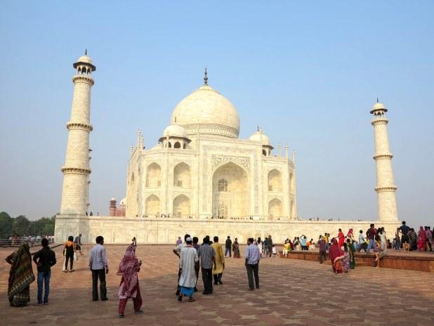Lateral del Taj Mahal