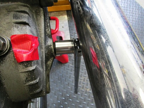 Remove Rear Axle Nut