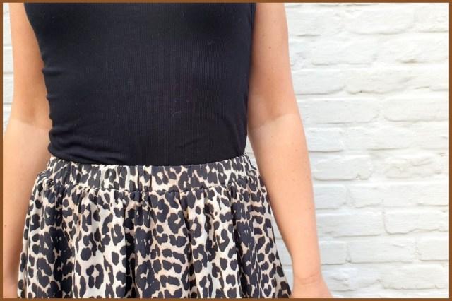 leopard maxi-skirt