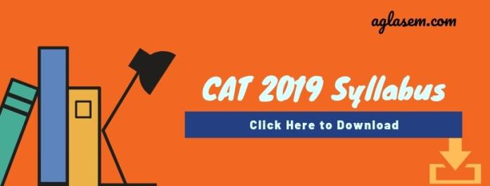 Download CAT 2019 Syllabus PDf