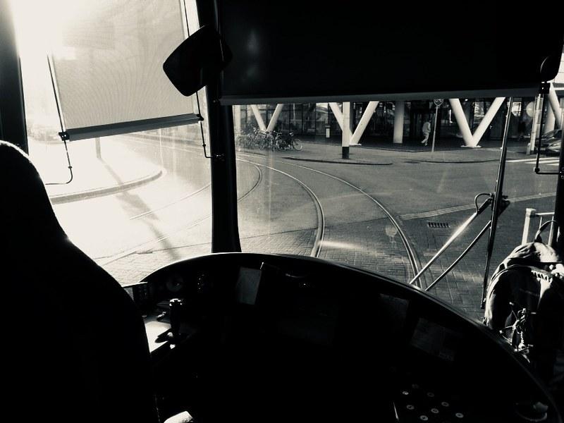 Rotterdam Daily Photo: Black and white throwback, sunny tracks