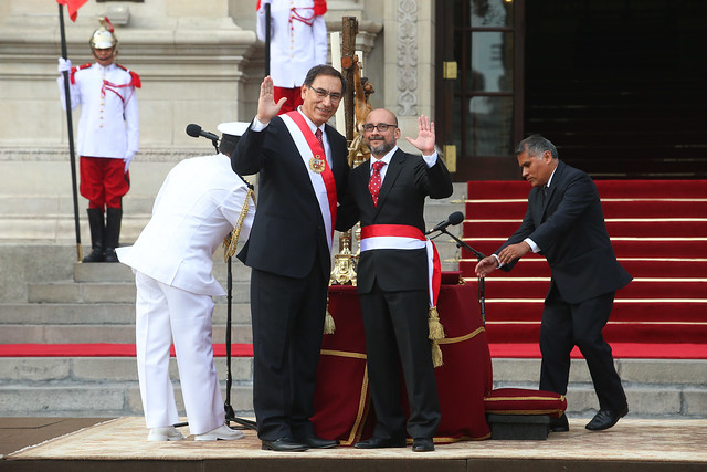 Presidente Vizcarra toma juramento a su primer Gabinete Ministerial en Palacio de Gobierno.