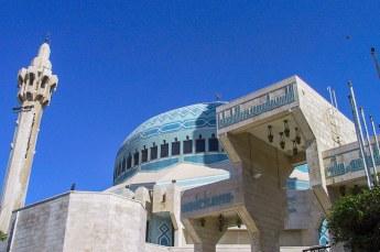 De eerste dag begonnen we met een bezoek aande Koning Abdullah moskee.