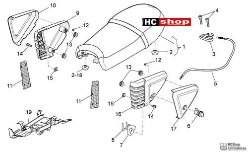 Foto Nr. 1: Moto Guzzi Sitz-Mittlerer Aufbau V7 Special