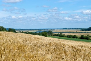 France, Looking along the River Vilaine towards Redon.