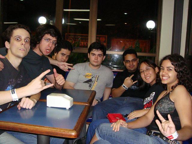 Amigos depois do show do Iron Maiden, em Manaus/2009