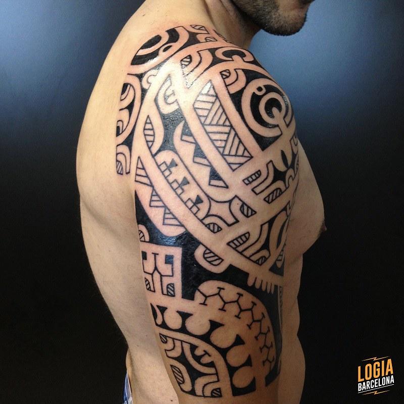 Tatuaje Maori Hombro Tatuajes Hombro Estilo Maori Logia Flickr