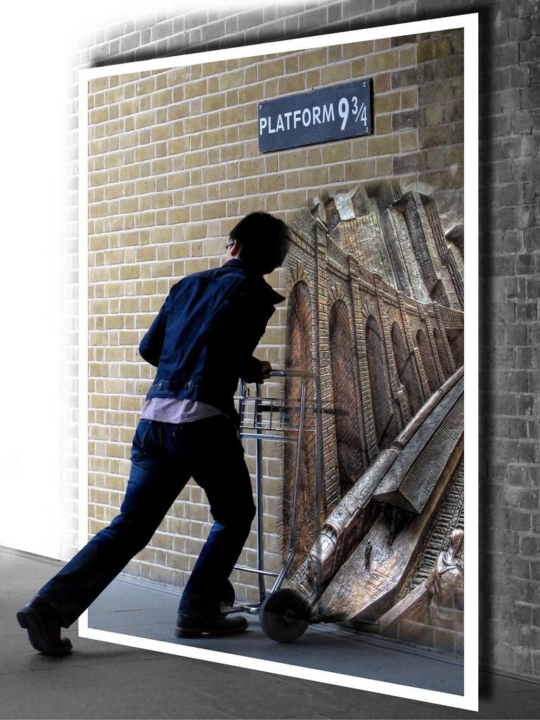 Gare De King's Cross Quai 9 3 4 : king's, cross, King's, Cross,, Londres., Direction, Poudla…, Flickr