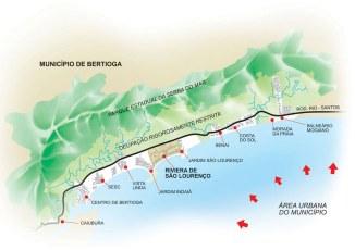 Município de Bertioga - Áreas urbana e de preservação
