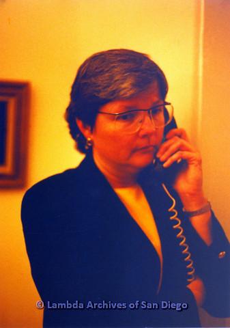 P151.051m.r.t Christine Kehoe profile talking on telephone