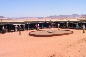 Een bedoeïenenkamp in Wadi Rum.