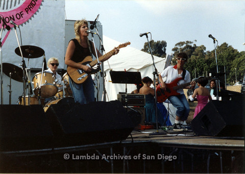 P024.397m.r.t 1989 San Diego Pride: Female Band performing on stage