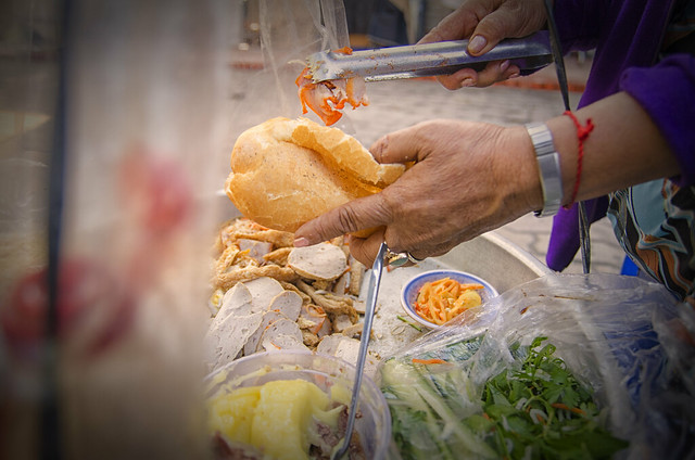 Banh Mi Vietnam (Traditional Vietnamese Bread Food)