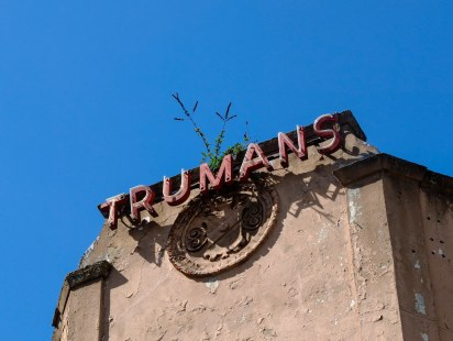 Trumans sign with flowers