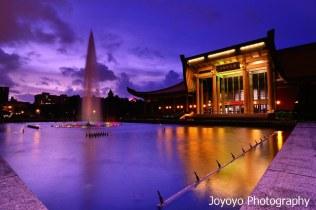 日落噴泉 國父紀念館