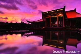 日落火燒雲 國父紀念館 蘇拉颱風