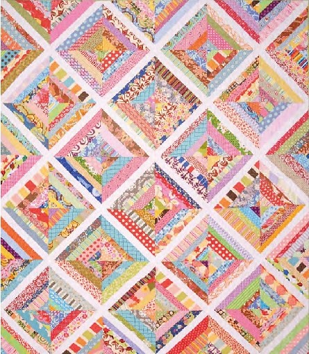 Scrappy Strips Quilt (British P&Q Sept16)
