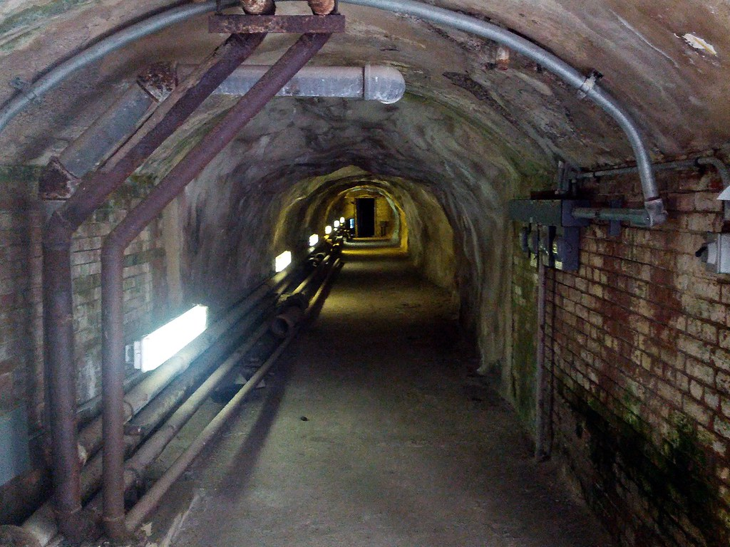 Secret Tunnel Alcatraz Island San Francisco Bay Califor