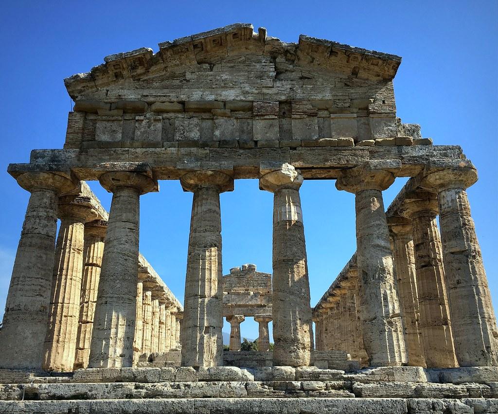 Warm Light On Greek Columns
