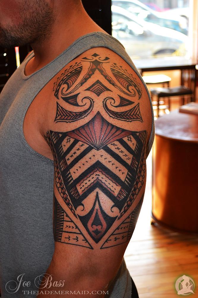 Tribal Bass Tattoo : tribal, tattoo, Polynesian-inspired, Tribal, Mermaid, Flickr