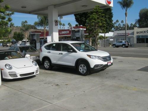 small resolution of  brand new honda cr v at gas station san juan capistrano 11 1