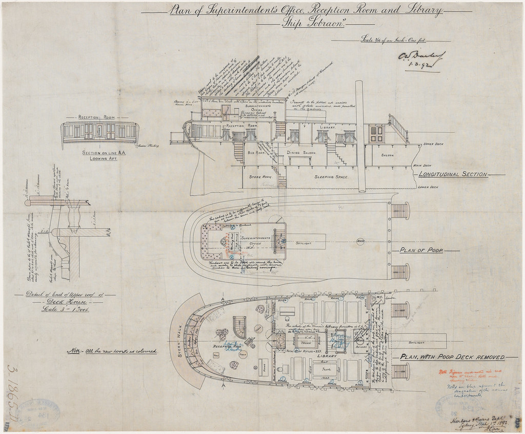 hight resolution of  plan of superintendent s office reception room and library ship sobraon james orr