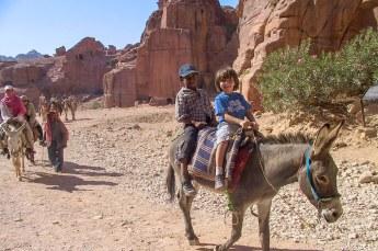 Deze kids namen de ezel.