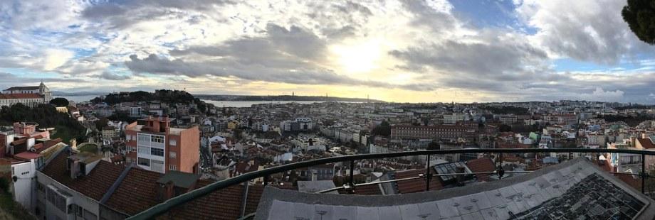 Noël urbain, Lisbonne, 25 décembre 2017