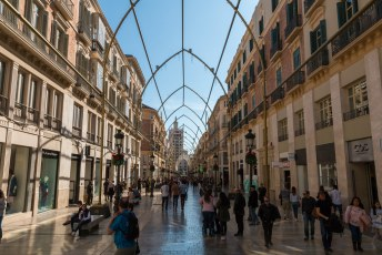 Genoeg cultuur, tijd om te shoppen in de calle Marquéz de Larios.