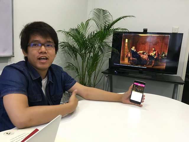 Htet demoing ARTO AirPlay Mirroring