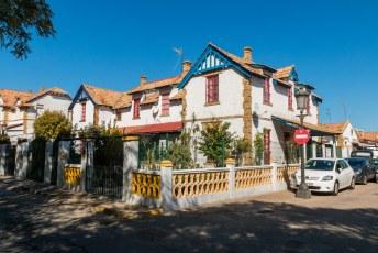 Een wijk gebouwd door het mijnbouw bedrijf Rio Tinto in Engelse stijl.