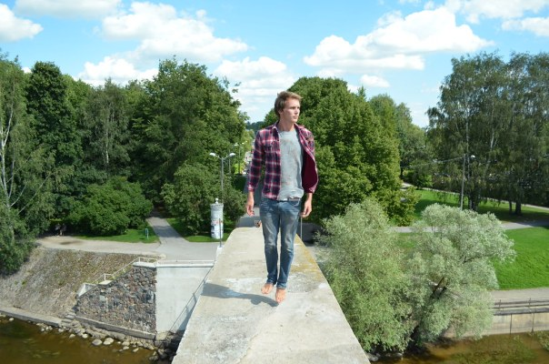 Hovering on top of a bridge