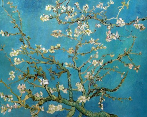 Vincent van Gogh - Almond Blossom, 1890 (Van Gogh Musuem Amsterdam Netherlands) Van Gogh: Up Close at Philadelphia Museum of Art